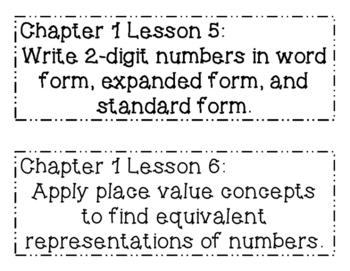 GO MATH! 2nd Grade Objectives BUNDLE Chapters 1-11