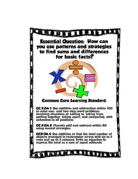 GO MATH 2nd grade Essential Question Posters
