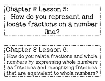 GO MATH! 3rd Grade Chapter 8 Essential Question Posters