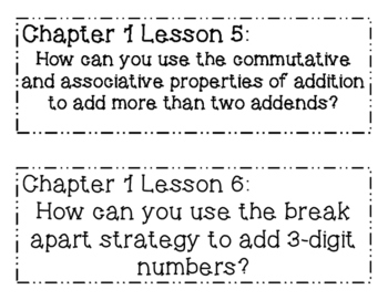 GO MATH! 3rd Grade Essential Question BUNDLE Chapters 1-10