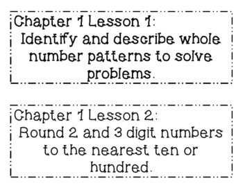 GO MATH! 3rd Grade Objectives BUNDLE Chapters 1-10
