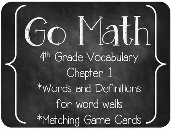 GO MATH! 4th Grade Vocabulary