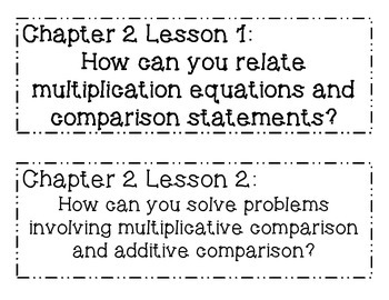 GO MATH! 4th Grade Chapter 2 Essential Question Posters