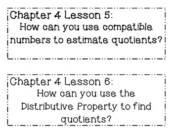 GO MATH! 4th Grade Chapter 4 Essential Question Posters