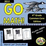 GO MATH! 4th Grade 2012 Version Math Vocabulary Crossword Puzzles