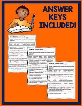 GO MATH! 5th Grade CLOZE Worksheet Vocabulary Chapters 1-11 BUNDLE 2015 Edition