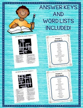 GO MATH! 5th Grade Vocabulary Crossword Puzzles Chapters 1-11 Full Year BUNDLE