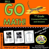 GO MATH! 5th Grade 2011 Version Vocabulary Crossword Puzzles Full Year