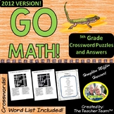 GO MATH! 5th Grade Common Core Vocab Crossword Puzzles