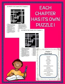 GO MATH! 5th Grade Common Core Vocab Crossword Puzzles