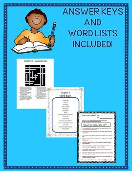 GO MATH! 5th Grade Vocabulary Activities Chapters 1-11 Full Year Bundle 2015