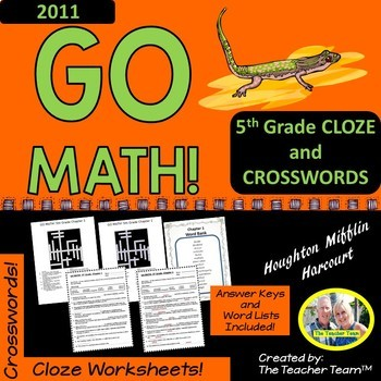 GO MATH! 5th Grade Vocabulary Activities Chapters 1-11 Full Year Bundle