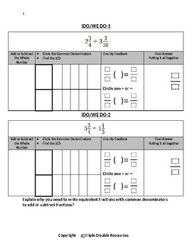 GO MATH 6.6 Adding and Subtracting Fractions (Mixed Numbers)