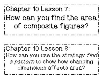 GO MATH! 6th Grade Chapter 10 Essential Question Posters