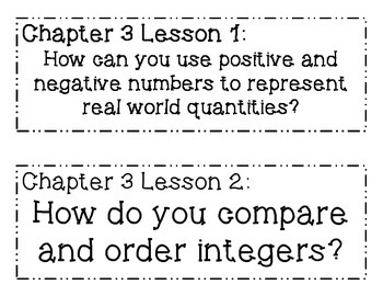 GO MATH! 6th Grade Chapter 3 Essential Question Posters