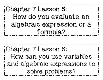GO MATH! 6th Grade Chapter 7 Essential Question Posters