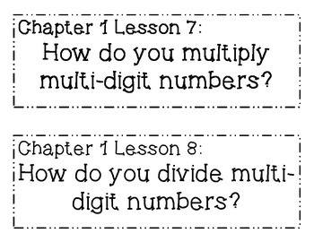 GO MATH! 6th Grade Essential Questions BUNDLE Chapters 1-13