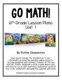 GO MATH! 6th Grade Lesson Plans for Unit 1