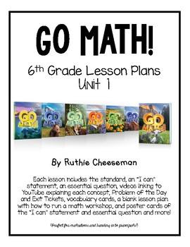 GO MATH! 6th Grade Lesson Plans for Unit 1