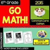 GO MATH! 6th Grade Math Early Finishers Crossword Puzzles Chapters 1-13 ~ 2015
