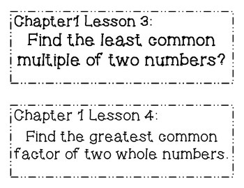 GO MATH! 6th Grade  Objectives BUNDLE Chapters 1-13