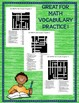 GO MATH! 6th Grade Vocabulary Activities Chapters 1-13 Full Year BUNDLE