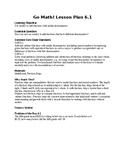 5TH GRADE GO MATH Ch. 6 Unit Lesson Plans