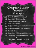 Number Concepts  | NO PREP | Lesson 1 only GO MATH
