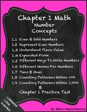 Number Concepts Worksheets, NO PREP,  GO MATH, Common Core