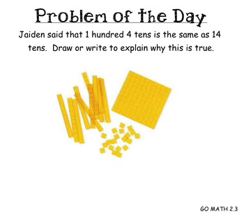 GO MATH Chapter 2 Problem of the Day