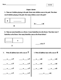 GO MATH First Grade Chapter 1 Review and Letter