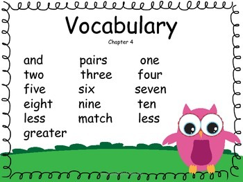 GO MATH Focus Wall Kindergarten Owl Theme