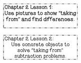 GO MATH! Grade 1 Chapter 2 Objectives