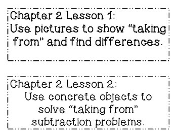 GO MATH! Grade 1 Chapter 2 Objectives