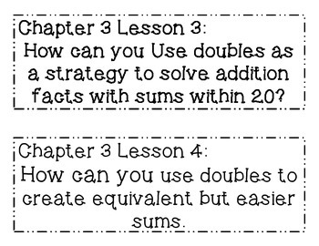 GO MATH! Grade 1 Chapter 3 Essential Questions
