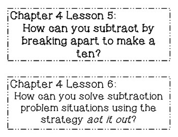 GO MATH! Grade 1 Chapter 4 Essential Questions