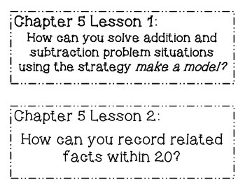 GO MATH! Grade 1 Chapter 5 Essential Questions