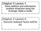 GO MATH! Grade 1 Chapter 5 Objectives