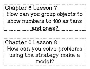 GO MATH! Grade 1 Chapter 6 Essential Questions