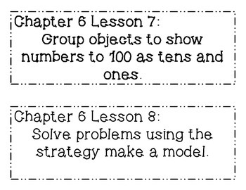 GO MATH! Grade 1 Chapter 6 Objectives