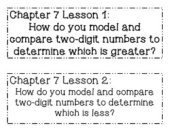 GO MATH! Grade 1 Chapter 7 Essential Questions
