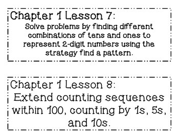 GO MATH! Grade 2 Chapter 1 Objectives
