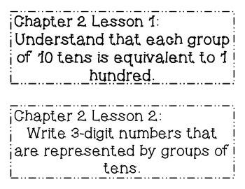 GO MATH! Grade 2 Chapter 2 Objectives