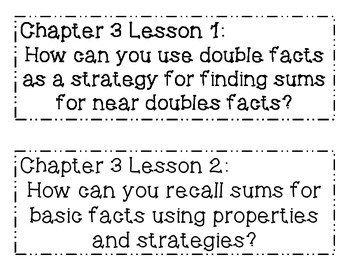 GO MATH! Grade 2 Chapter 3 Essential Questions