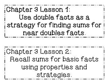 GO MATH! Grade 2 Chapter 3 Objectives