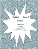GO MATH! Grade 5 Chapter 1 Lesson Plans, Vocabulary Cards,