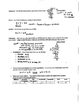 GO MATH Grade 5 - chapter review sheets bundle