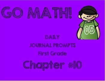 First Grade-GO MATH! Chapter 10 Journals