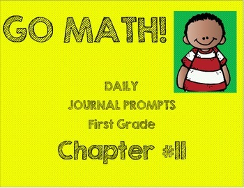 First Grade-GO MATH! Chapter 11 Journals