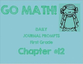 First Grade-GO MATH! Chapter 12 Journals